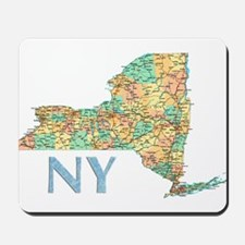 Map of New York State 7 Mousepad