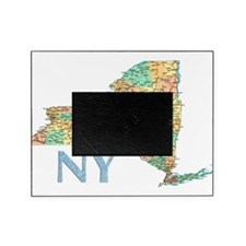Map of New York State 7 Picture Frame