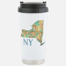 Map of New York State 7 Travel Mug
