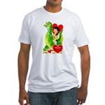 Cave Boy & Dinosaur Fitted T-Shirt