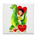 Cave Boy & Dinosaur Tile Coaster
