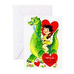 Cave Boy & Dinosaur Greeting Cards (Pk of 10)