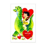 Cave Boy & Dinosaur Mini Poster Print