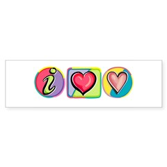 I Heart Love Bumper Bumper Sticker