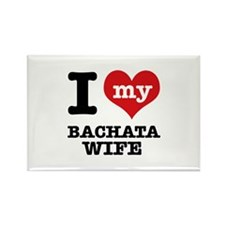 I love my bachata wife Rectangle Magnet