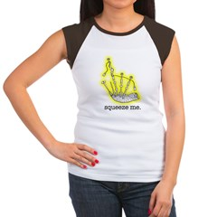 Squeeze Me. (Bagpipes) Women's Cap Sleeve T-Shirt
