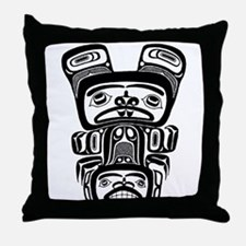AbOriginalzc Haida Totem Throw Pillow