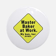 Dad-To-Be:Master Baker! Ornament (Round)