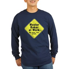 Dad-To-Be:Master Baker! Long Sleeve Dark T-Shirt