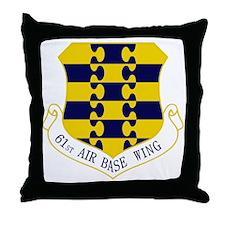 61st ABW Throw Pillow