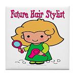 Future Hair Stylist Tile Coaster