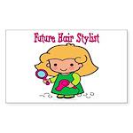 Future Hair Stylist Rectangle Sticker