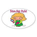 Future Hair Stylist Oval Sticker