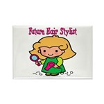 Future Hair Stylist Rectangle Magnet (10 pack)