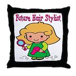 Future Hair Stylist Throw Pillow