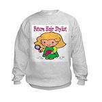 Future Hair Stylist Kids Sweatshirt