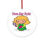 Future Hair Stylist Ornament (Round)