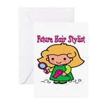 Future Hair Stylist Greeting Cards (Pk of 10)