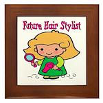 Future Hair Stylist Framed Tile