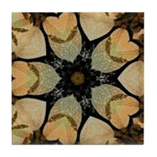 Retro Burnt Art Tile Coaster