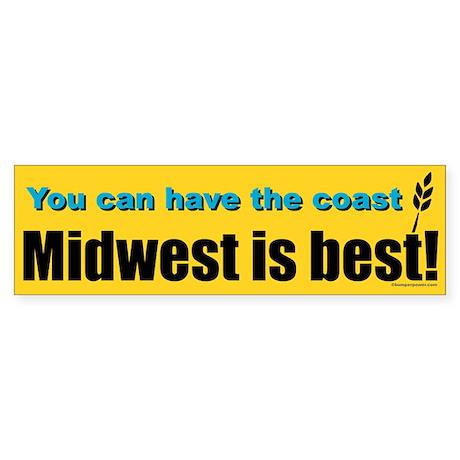 Midwest Is Best Bumper Sticker