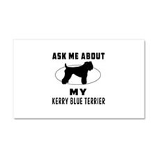 Ask Me About My Kerry Blue Terrier Car Magnet 20 x