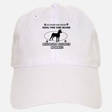 miniature pinscher mommy designs Baseball Baseball Cap