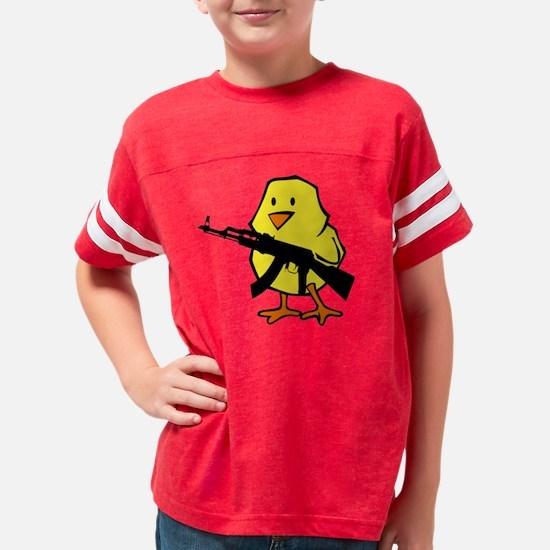 black gun chick Youth Football Shirt