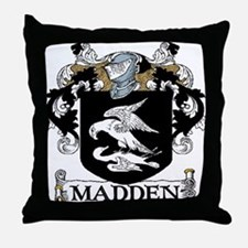 Madden Coat of Arms Throw Pillow