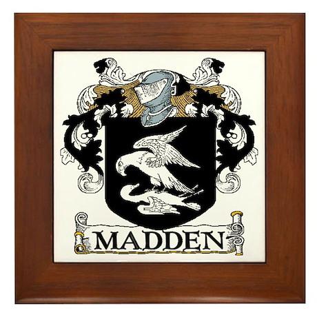Madden Coat of Arms Framed Tile