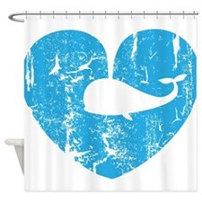 I love whales Shower Curtain