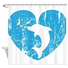 I love dolphins Shower Curtain