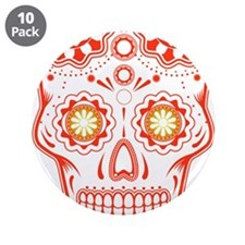 "Unique Skull 3.5"" Button (10 pack)"