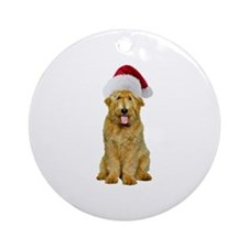 Goldendoodle Santa Ornament (Round)