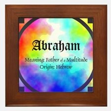 Abraham Framed Tile