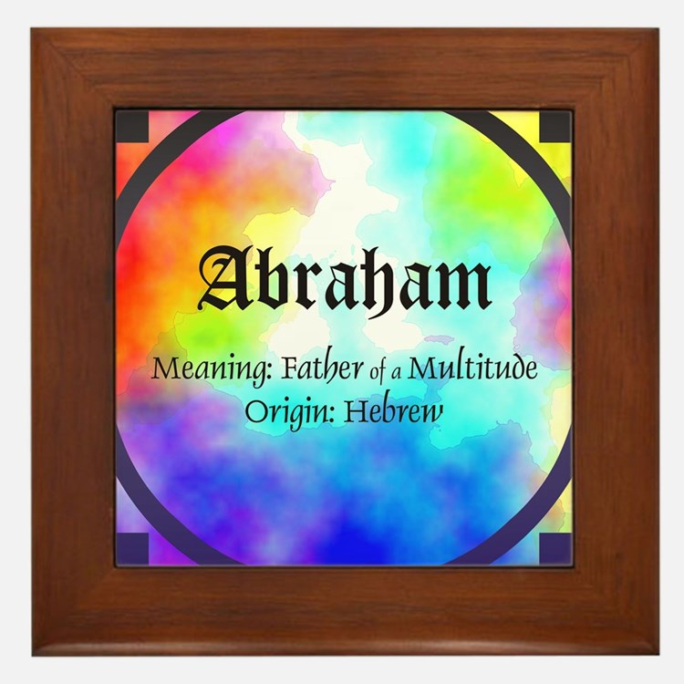 Abraham Framed Tile