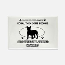 miniature bull terrier mommy designs Rectangle Mag