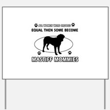 miniature bull terrier mommy designs Yard Sign