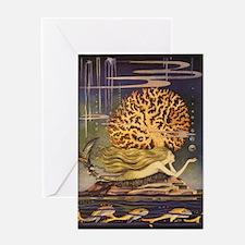 Vintage Mermaid Greeting Card