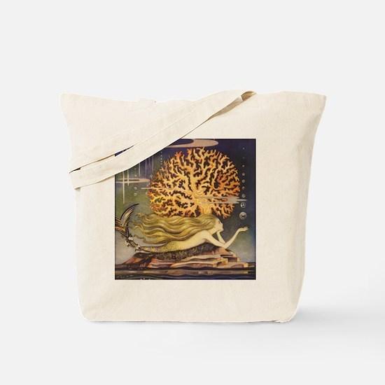 Vintage Mermaid Tote Bag