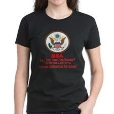 NSA Can You Hear The Voices? Tee