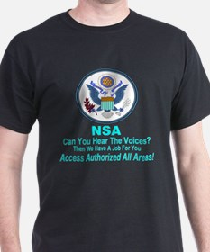NSA Can You Hear The Voices? T-Shirt