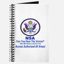 NSA Can You Hear The Voices? Journal