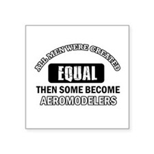"Cool Aeromodellers designs Square Sticker 3"" x 3"""