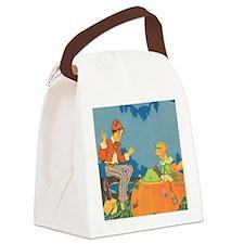 Vintage Nursery Rhyme Canvas Lunch Bag
