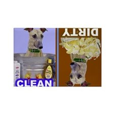 Dishwasher -RecMag -Greyhound,Brindle Magnets