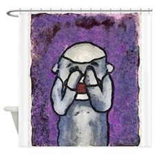 See No Evil Sock Monkey Shower Curtain
