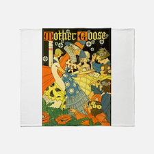 Vintage Mother Goose Throw Blanket