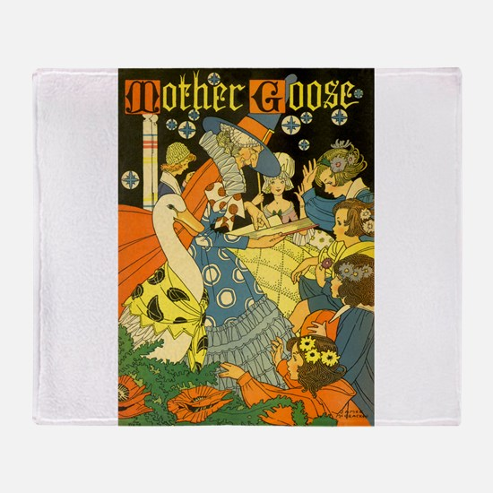 Vintage Mother Goose Throw Blanket