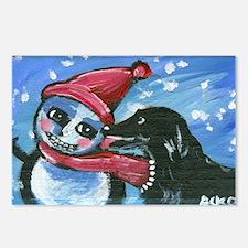 FLATTIE kisses snowman Postcards (Package of 8)